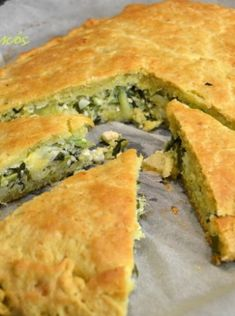 Greek Cake, Cooking Time, Cooking Recipes, Cheese Pies, Spanakopita, Greek Recipes, Bakery, Recipies, I Am Awesome
