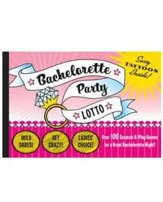 Bachelorette Party Lotto  Book Of 100 Scratch  Play Games ** Read more  at the image link.
