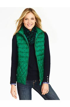 Talbots - Quilted Polka Dot Puffer Vest | New Arrivals |
