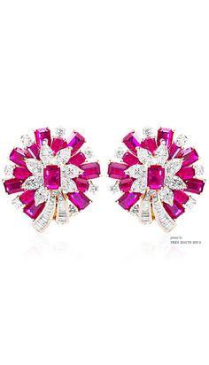 Farah Khan Mozambique Ruby Earrings