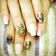 Coffin mandala nails