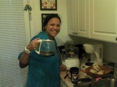 #Miami 2012. Mariamna sacando la cara por Venezuela. Muy rico cafe matutino
