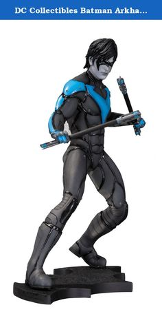 """DC Collectibles Batman Arkham City Nightwing Statue. Sculpted by Amos Hemsley Batman's oldest ally and original Robin stands on his own in stunning detail and ready for action with this statue based on his design from the best-selling, critically acclaimed Batman: Arkham City video game! Statue measures approximately 8.8"""" tall."""