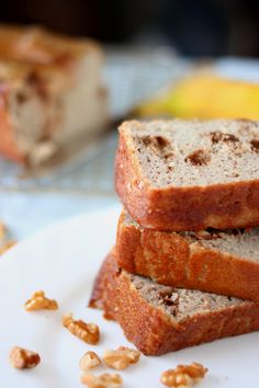 Grain and Sugar Free Banana Walnut Bread #glutenfree #grainfree #paleo