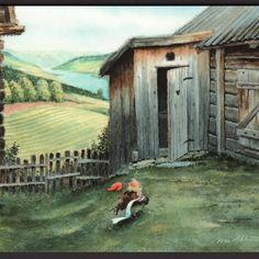 Nettbutikk Midthunsamlerne - www.midthunsamlerne.com Fairy Silhouette, Elves, Gnomes, Art For Sale, Troll, Random Stuff, Christmas, Painting, Drawing S