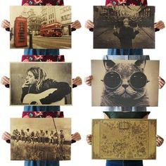 Aliexpress Retro Poster, Vintage Anime, Arte Horror, Kraft Paper, Aliexpress, Wall Stickers, Poster Prints, Wallpaper, Frame
