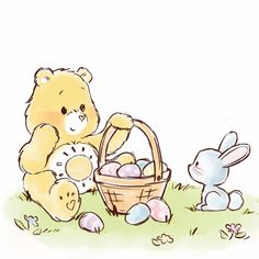 Care Bears, Bear Coloring Pages, Oldies But Goodies, American Greetings, Egg Hunt, Baby Care, Bedtime, Easter Eggs, Hello Kitty