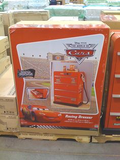 Disney Cars dresser-Dres NEEDS this!! he actually doesn need a dresser, so this would be perfect!!
