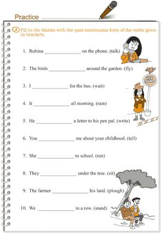 Grade 3 Grammar Lesson 10 Verbs - the past continuous tense English Worksheets For Kids, 2nd Grade Worksheets, English Lessons For Kids, Kids English, Learn English, Pronoun Worksheets, French Lessons, Spanish Lessons, Learn French