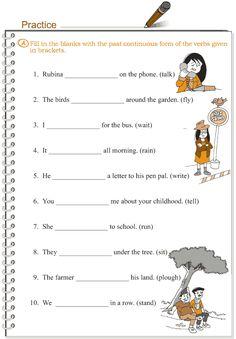 Grade 3 Grammar Lesson 10 Verbs - the past continuous tense English Grammar Tenses, Grammar Book, Grammar Lessons, English Vocabulary, Kids English, English Lessons, Learn English, English Exam, French Lessons