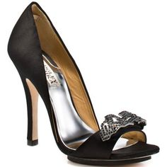 "Badgley Mischka, ""Isadora"" in black"
