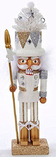 "10"" Hollywood White, Silver and Gold with Scepter Wooden Christmas Nutcracker Kurt Adler http://www.amazon.com/dp/B00O9D9604/ref=cm_sw_r_pi_dp_kkgHub1SZ92KH"
