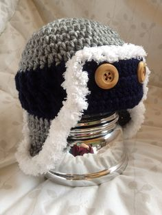 Baby boy bomber hat by anniescraftcloset on Etsy