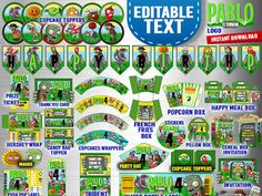 Plants VS Zombies Printable Party Kit Digital by MagicCelebration