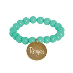 Engraved/Monogrammed Mint and Gold Chloe Bracelet {more colors available}