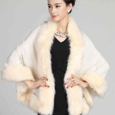 #2903 Jaqueta feminina inverno 2016 Winter Luxury Knitting shawl collar Pashiminas for women Ponchos and capes Faux fur shawl