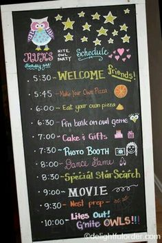 Cute Ideas For A Night Owl Sleep Over Printables Available Decorations Spa Party S
