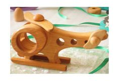 $17 Kids Wooden toy Helicopter. Handmade organic toys - Ready to Ship