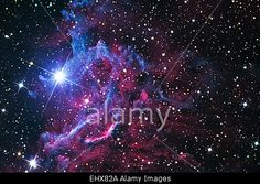 Download this stock image: Flaming Star Nebula IC-405 (Actual Astrophotograph) - EHX82A from Alamy's library of millions of high resolution stock photos, Stock Photo, illustrations and vectors.