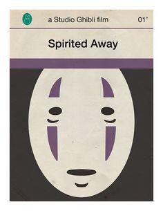 Jason K has reimagined a series of Studio Ghibli movie posters as covers of vintage Penguin paperbacks.