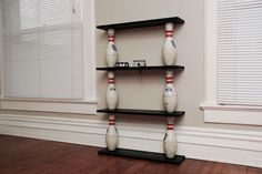 Bowling pin shelf