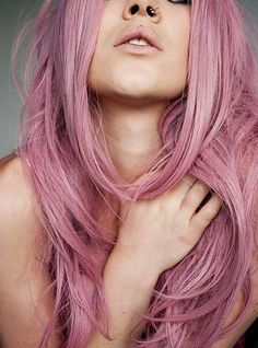 mauve hair, pink hair, bubblegum hair, purple hair, pastel hair, nose ring, weekly inspirations, audrey kitching