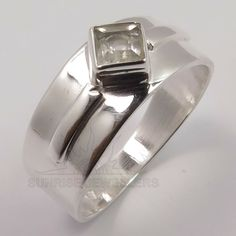 Quartz Crystal, Crystal Ring, Jewelry Rings, Fine Jewelry, Silver Jewellery Indian, Stylish Rings, Amethyst Gemstone, Ring Designs, Sterling Silver Jewelry
