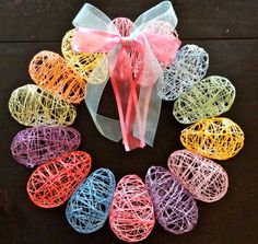 Easter Egg String wreath