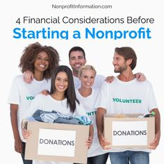 Starting a Nonprofit / 4 Financial Considerations Before / NonprofitInformation.com Nonprofit Fundraising, Fundraising Events, Fund Accounting, Grant Writing, Financial Analysis, Financial Information, School Fundraisers, Business Website, Financial Planning
