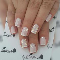 27 Modelos de Unhas com esmalte Branco Cute Nails, Pretty Nails, My Nails, Popular Nail Designs, Nail Art Designs, Nails Design, Gel Nagel Design, Nails Only, French Tip Nails