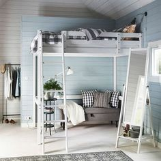 IKEA Bedrooms - Space-saving STORA Loft Bed saves up on precious space