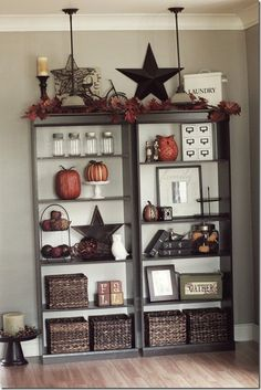 Bookshelves decor ideas rustic-home-decor