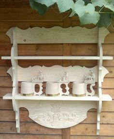 Wooden Shelves, Wall Shelves, Kitchen Banquette, Cabinet Makers, Wood Furniture, Projects To Try, Woodworking, Handmade, Vintage