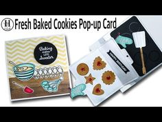 Fresh Baked Cookies Pop-up Card | Cookies Sheet Dies - H MADE BOUTIQUE Love Stamps, Mft Stamps, Cute Birthday Cards, Birthday Sentiments, Honey Bee Stamps, Cookie Pops, Fun Cooking, Freshly Baked, Sweet Life