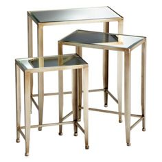 Melrose Nesting Tables from Z Gallerie.  Great solution for a tight corner…