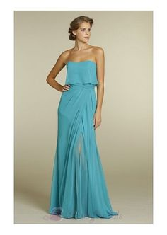 Fabulous Chiffon A-line Strapless neckline Bridesmaid Dress B1564