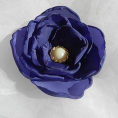 Purple Satin Fabric Flower Applique Bloom by beautifulswagstore, $4.50 #teamdream