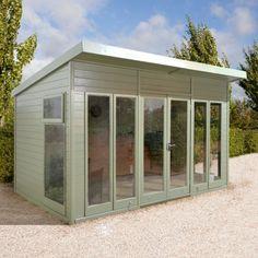 12x10 Ultimate Pent Garden Room - Fully Glazed