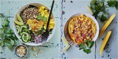 Vanløse blues.....: Mango-karry hummus & spinatsalat med quinoa, mango og cashewnødder
