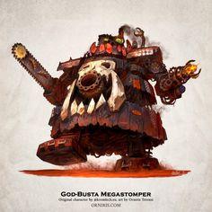 God-Busta Megastomper - Kromlech by Orniris on DeviantArt Orks 40k, Warhammer 40k, Chaos Daemons, Tau Empire, Necron, Imperial Fist, Space Marine, Big Boys, Vignettes