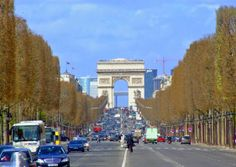 Looking down the Champs Elysees at the Arc du Triomphe - Paris Photo Gallery - The Trusted Traveller