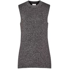Reiss Astrid Metallic Knitted Tank Top, Mocha (665 BRL) ❤ liked on Polyvore featuring reiss
