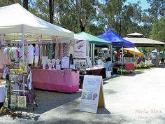 Stalls at Warrandyte Market, Melbourne Victoria. || #Markets #outdoor #Australia
