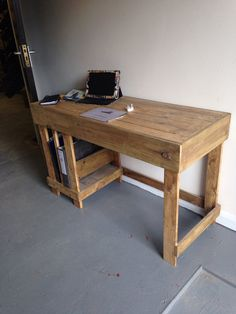 Office desk made from reclaimed wood by Palletfurnitureuk on Etsy