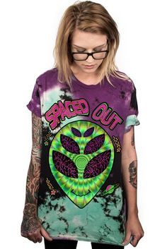 SPACED OUT ALIEN - TIE-DYE TEE