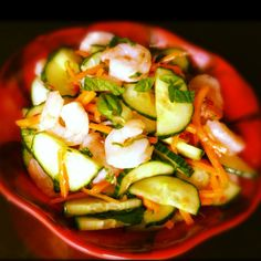 Vietnamese Shrimp Salad with Cucumber, Basil and Cilantro – The Lemon Bowl