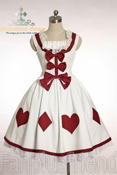 Alice in Wonderland inspired dress.