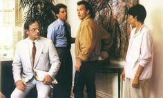 Christopher Lloyd, Michael Keaton, Lorraine Bracco in The Dream Team (1989)