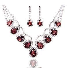 Conjunto de jóias Pérola/Strass Liga Mulheres – BRL R$ 41,01