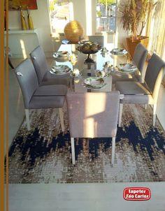 Traga mais sofisticação à sua sala de jantar, como a Atalaia Móveis fez com nosso Drops Royal - Atalaia Imóveis - Avenida Tamandaré, 1592 - Campo Grande/MS #Drops @HomeDecor #TapetesSaoCarlos